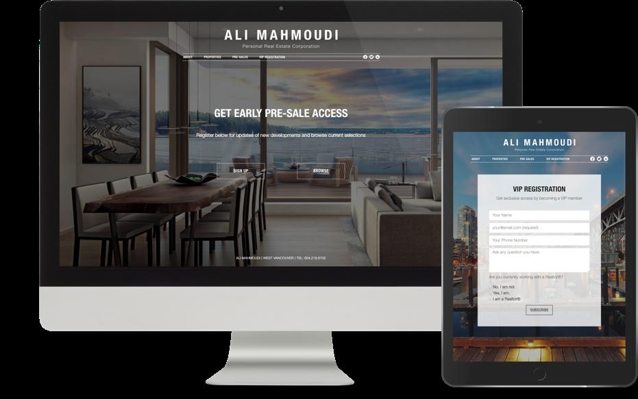 Realtor Branding website design for Ali Mahmoudi