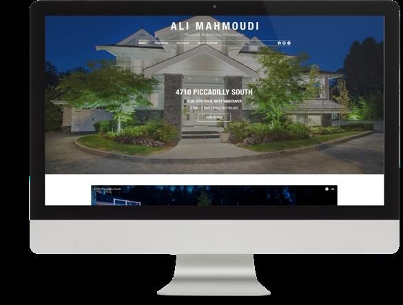 Realtor Website Design for Ali Mahmoudi desktop view