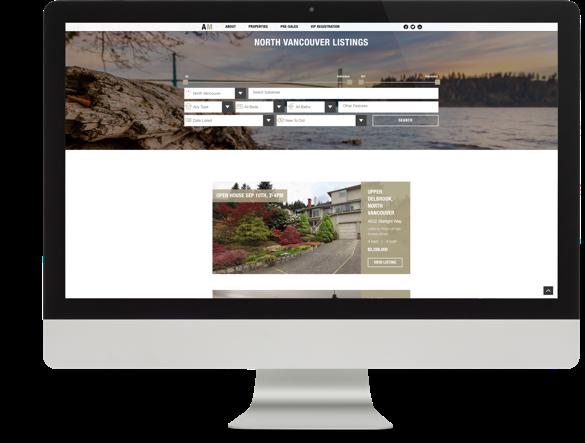 Realtor Branding and Website Design for Ali Mahmoudi desktop view