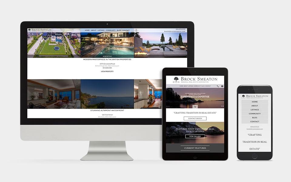 Real Estate Website design Brock Smeaton West Vancouver