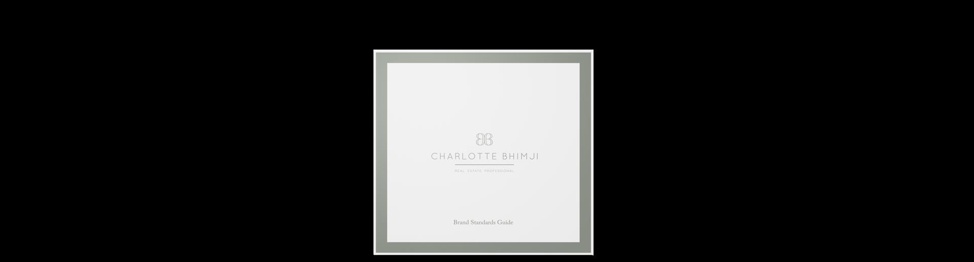 Realtor branding and website design for Charlotte Bhimji magazine branding