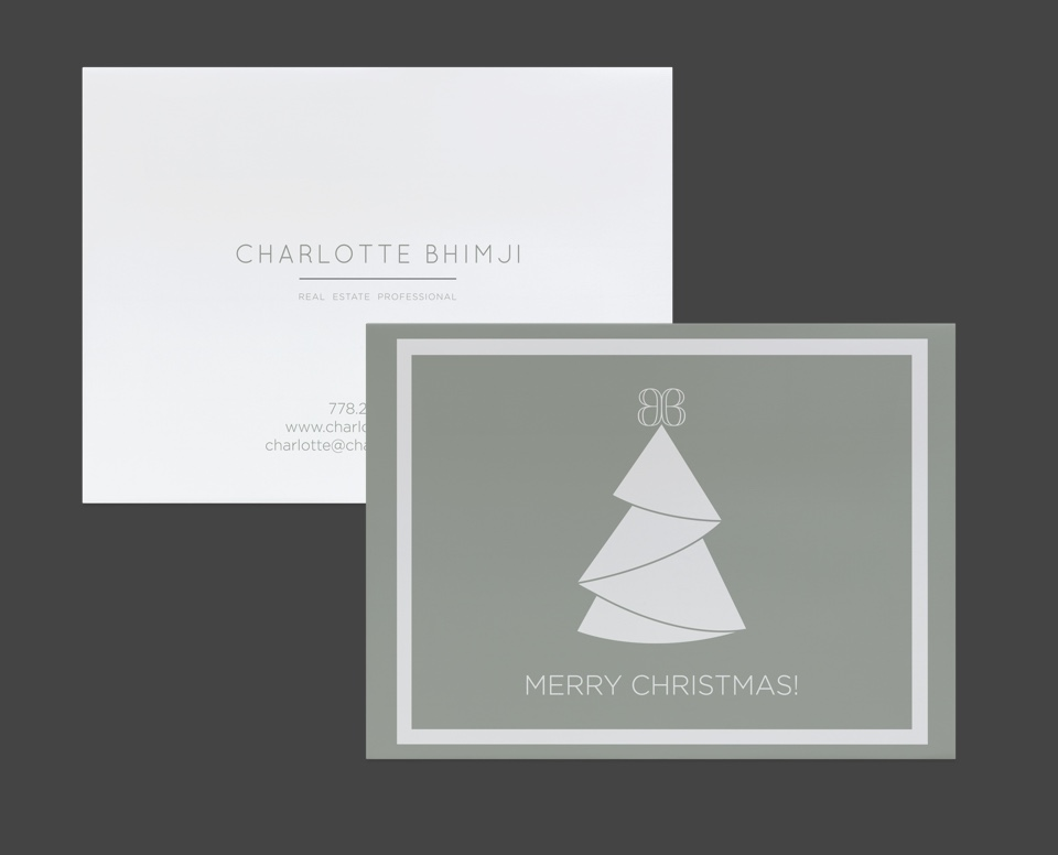 Realtor branding for Charlotte Bhimji print and digital media design