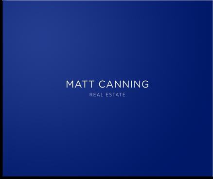 Real estate branding stationary design for Matt Canning, Fraser Valley