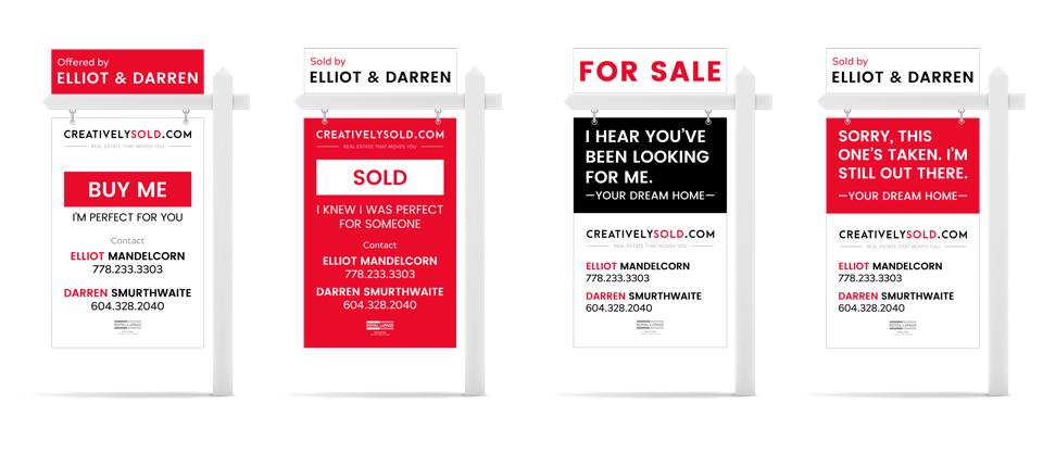 Real estate agent marketing - sign design for creativelysold.com