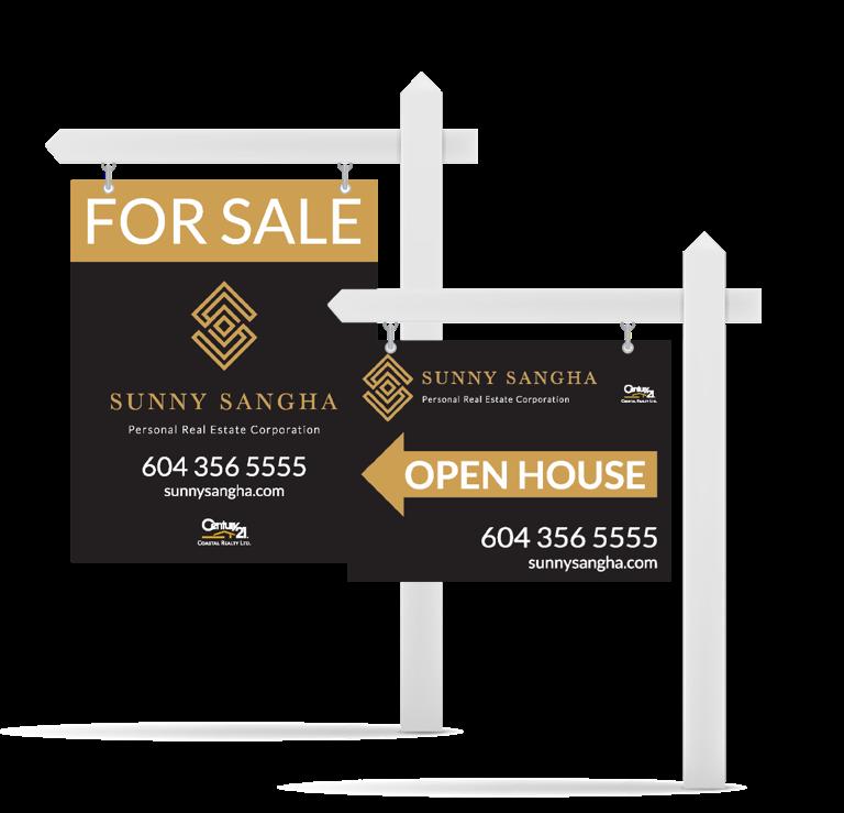 Sunny Sangha Realtor Branding sign design