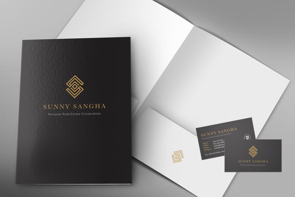 Sunny Sangha Realtor Branding stationary design