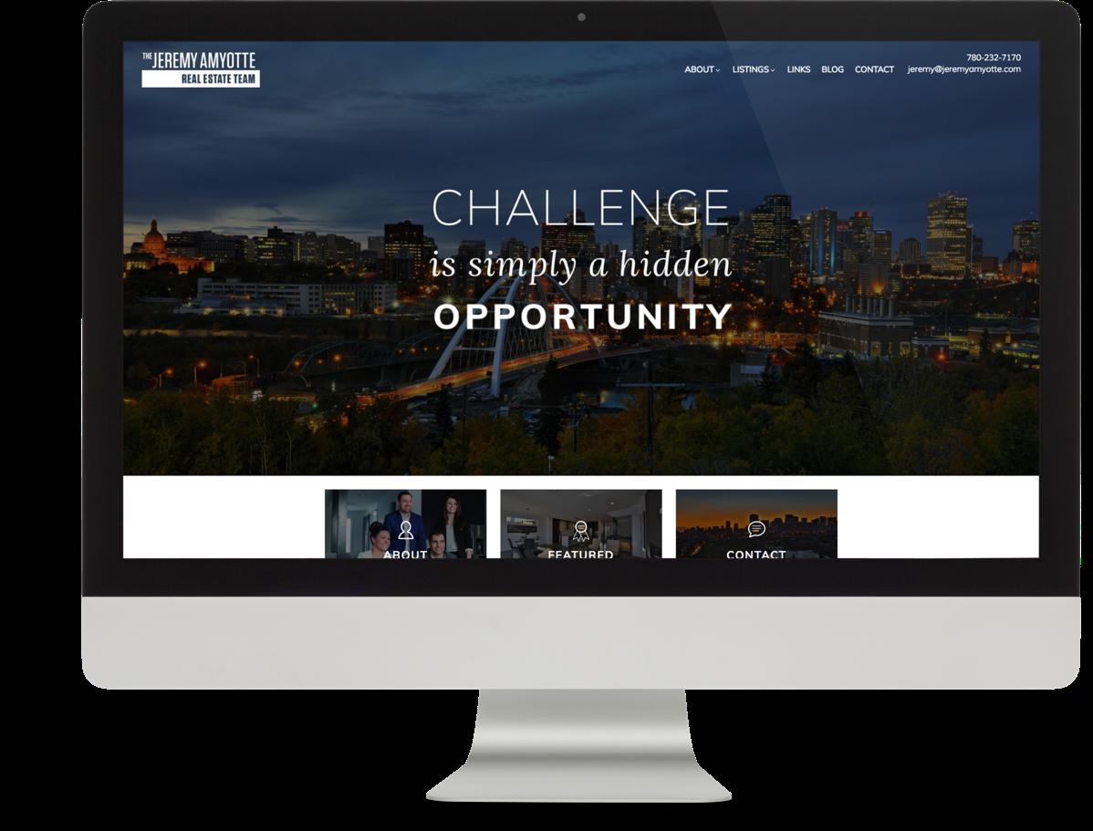 Jeremy Amyotte Real Estate Team Branding and Website Design Brixwork Real Estate Marketing - Desktop web design view