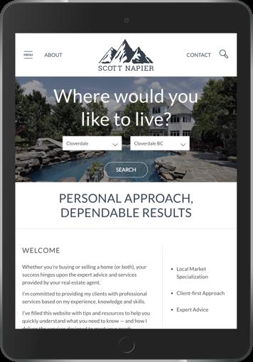 Scott Napier Real estate marketing website design display