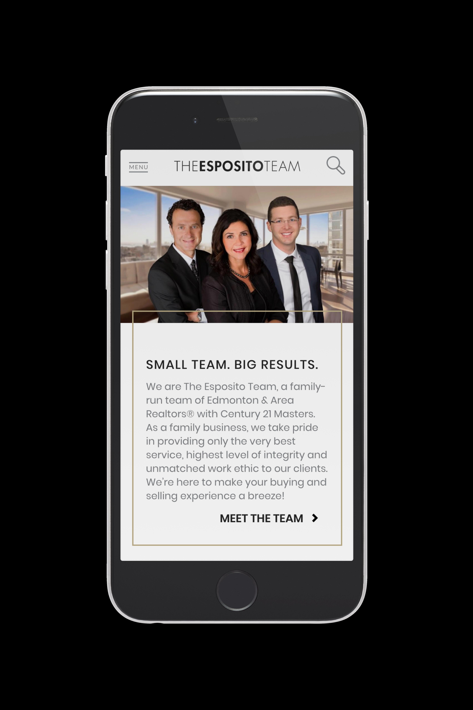 Esposito Team Edmonton Real Estate agent mobile view team